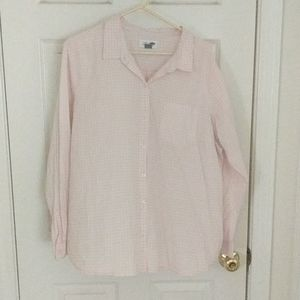 Light weight, pink and white Old Navy button down